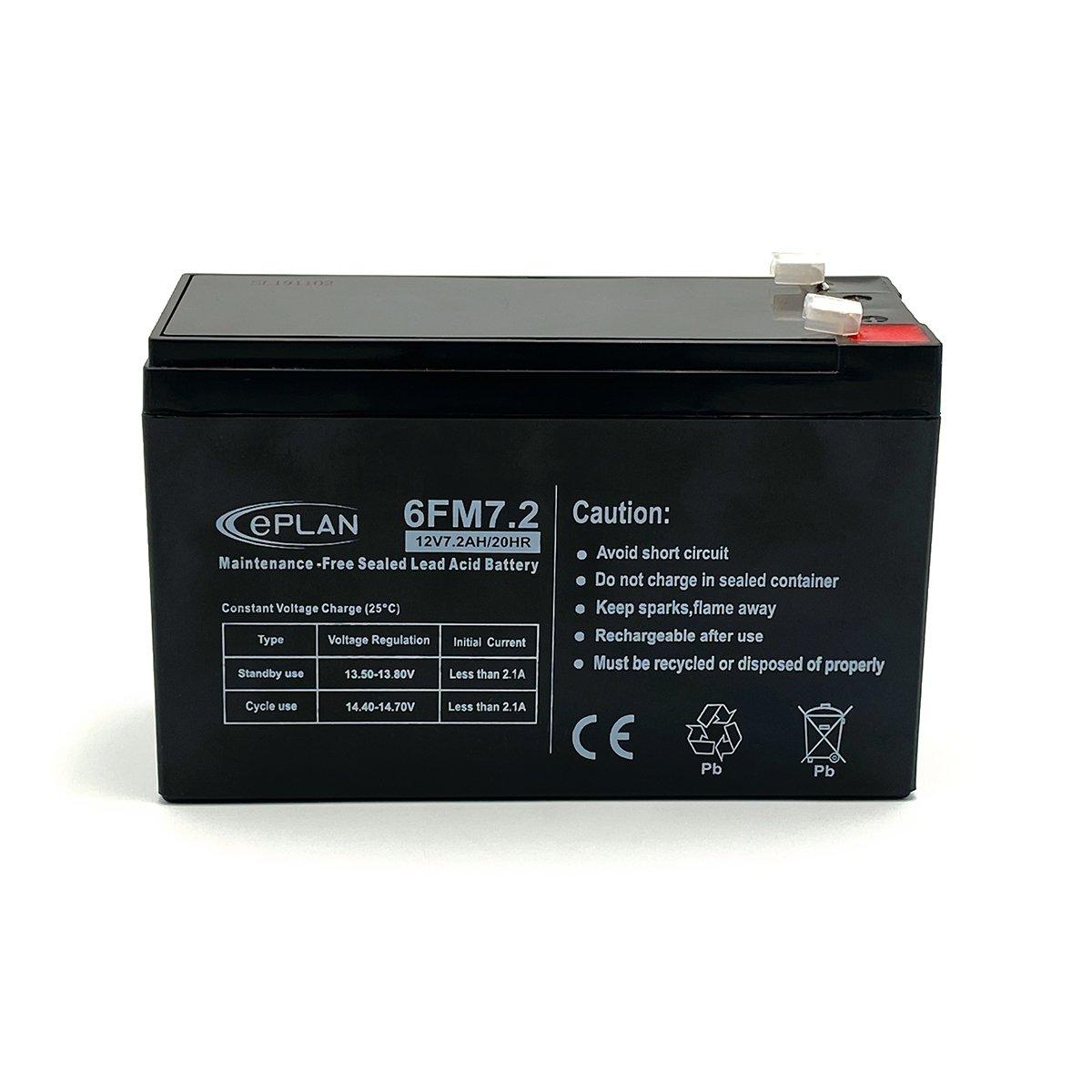 Batteria 12V 7,2 Ah adatta a centrali allarme