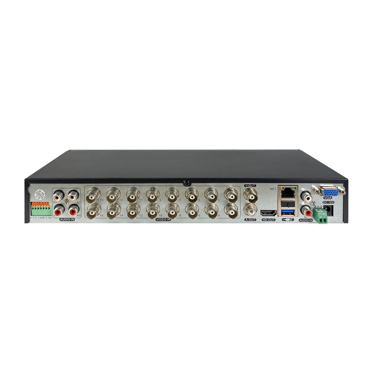 XVR 4K Ibrido 5in1 16 Canali - Intelligenza Artificiale - 4 Ingressi Allarme - Cloud