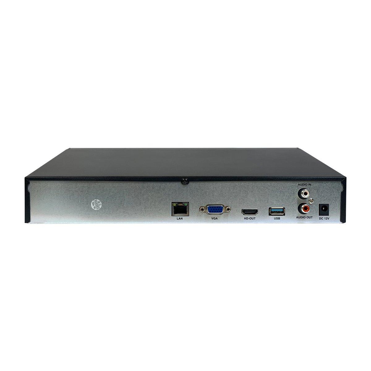 NVR 36CH 12MPX con funzioni AI - Cloud - Uscita Video HDMI - VGA