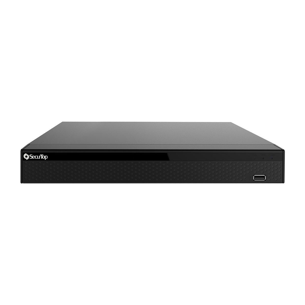 NVR 25CH e 16 POE a bordo 4K con funzioni AI - Cloud - Uscita Video HDMI - VGA