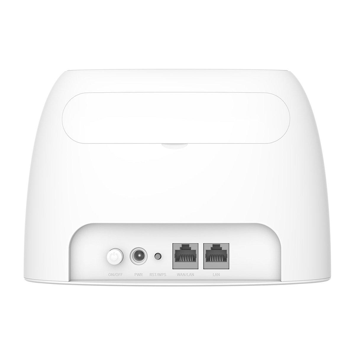 Router WiFi 4G N300 LTE con slot per SIM card - retro